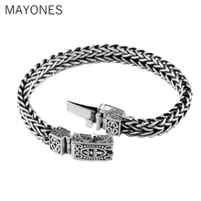 Genuine 100% 925 Silver Bracelet Anchor Width 8mm Classic Wire-cable Link Chain