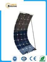 Boguang 100 W flessibile qualità delle cellule pannello solare 12 V 18 V superficie liscia sistema modulo kit auto CAMPER marine barca battery charger