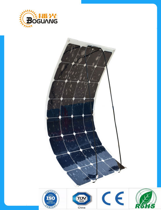 Boguang 100W flexible solar panel 12V solar cell/module/system RV/car/<font><b>marine</b></font>/boat battery charger LED Solar light kit