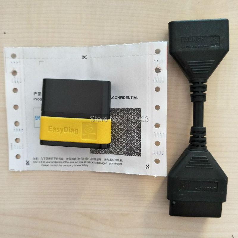 Prix pour Expédition rapide D'origine Launch X431 Easydiag 2.0 android IOS version facile diag 2.0 + D'origine X431 idiag OBD16pin câble d'extension