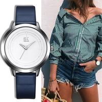 SK 2017 Popular Fashion Women Quartz Watches Lady Dress Watch Leather Women S Quartz Watches Clock