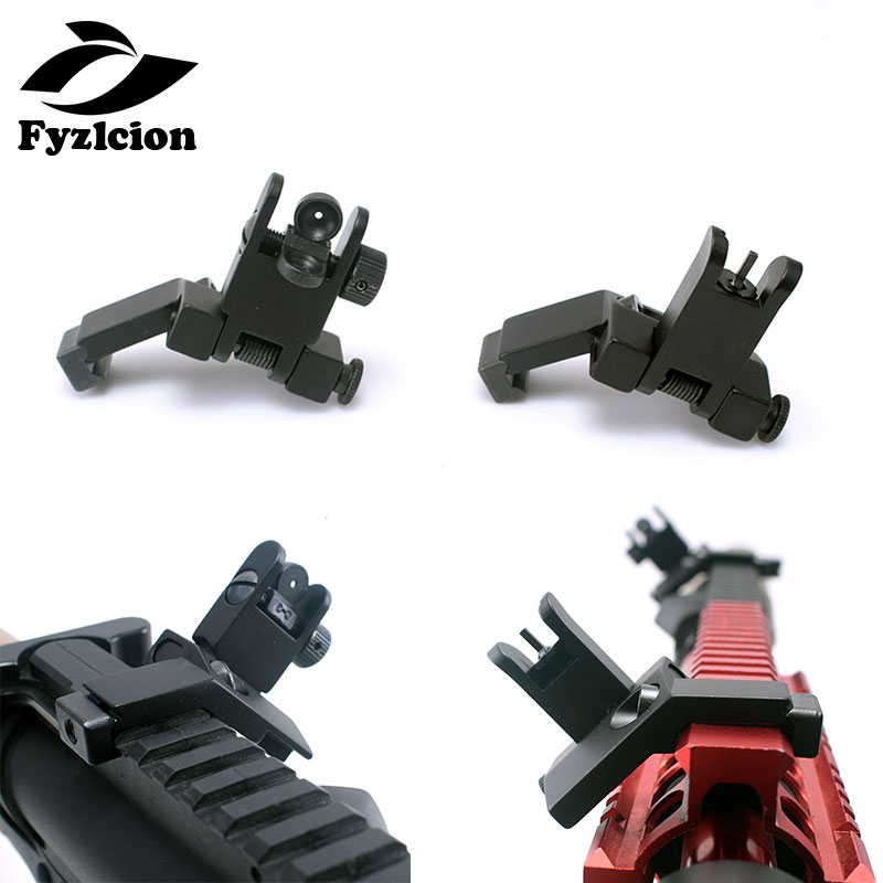 Gun-Accessories AR15 Iron Sight Backup Flip-Up Folding Front 15-45-Degree And Rapid-Transition