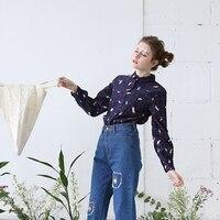 Spring and autumn Harajuku style TAKA Japanese soft sister childlike custom fabrics corduroy lapel blouse