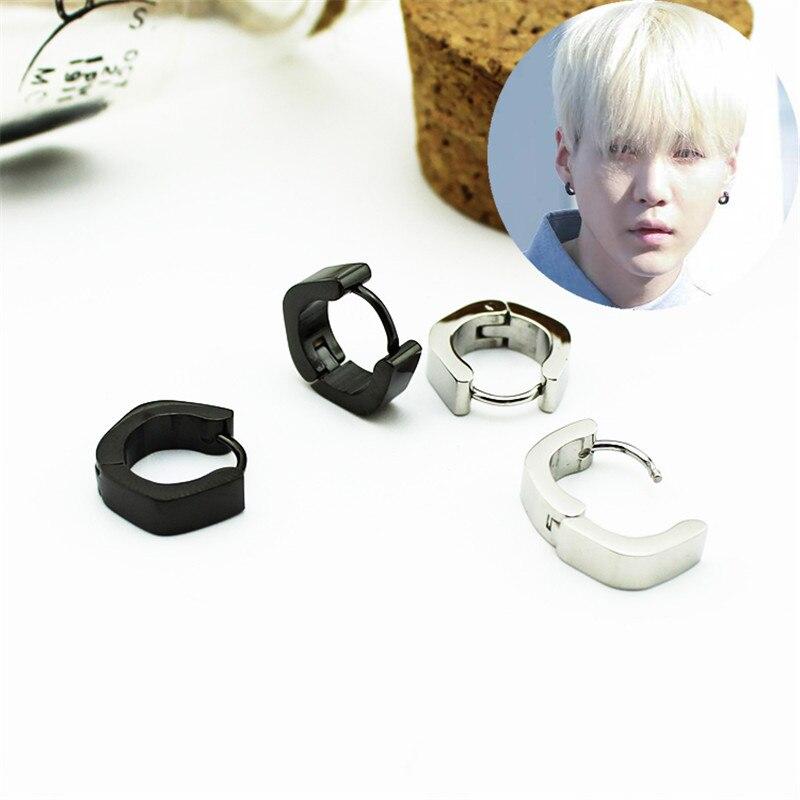 Youpop KPOP BTS Bangtan Boys Album Love Yourself Suga Stud Earrings K-pop Jewelry Accessories For Mens And Womens Earring FR725