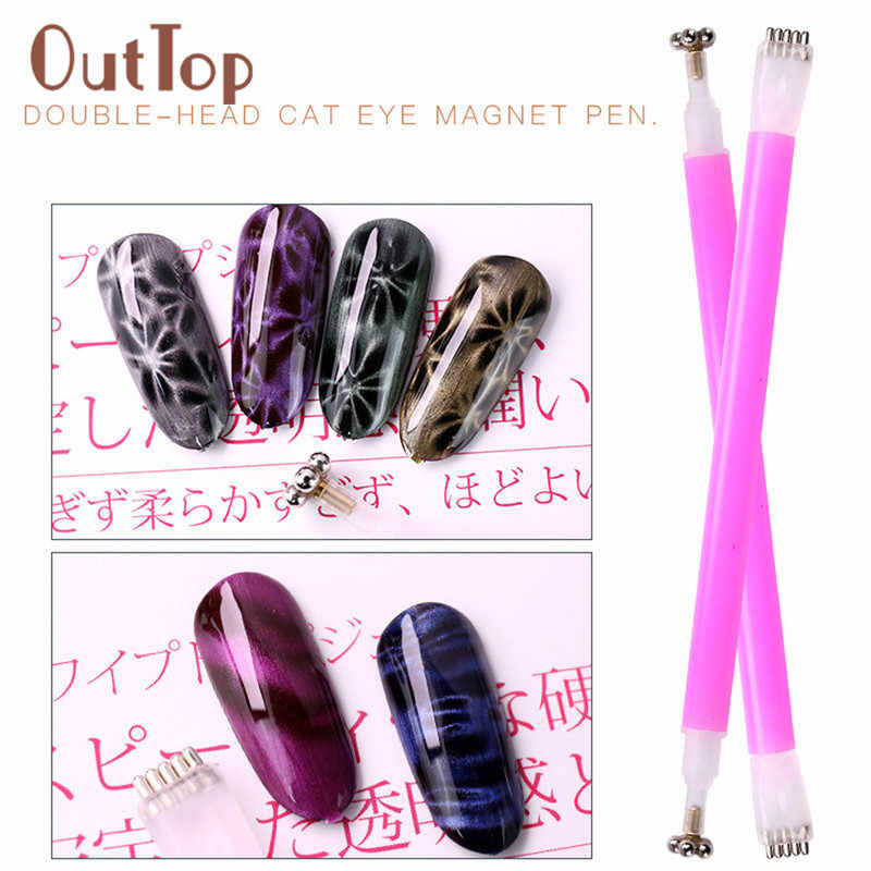 1Pc Double Head Nail Art Cat Eye Rod Magnetik Bunga Kuku Tip untuk Semua Cat Eye Magnet Gel Polandia manikur Aksesoris 15 #