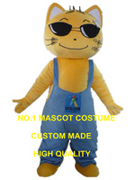 yellow cat mascot costume custom cartoon character cosplay adult size carnival costume 3174
