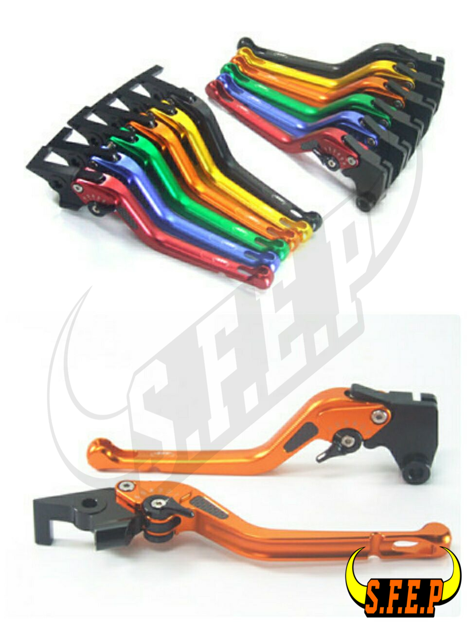 3D Long CNC Adjustable Motorcycle Brake and Clutch Levers with Carbon Fiber Inlay For Triumph STREET CUP 2017-2018