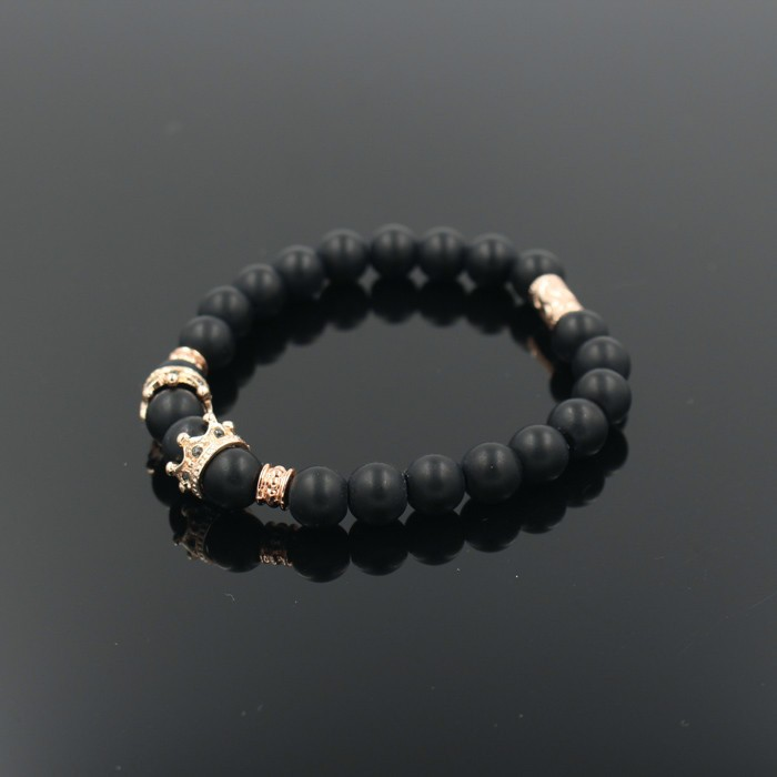 gold-imperial-crown-with-natural-matt-stone-black-bracelet-2