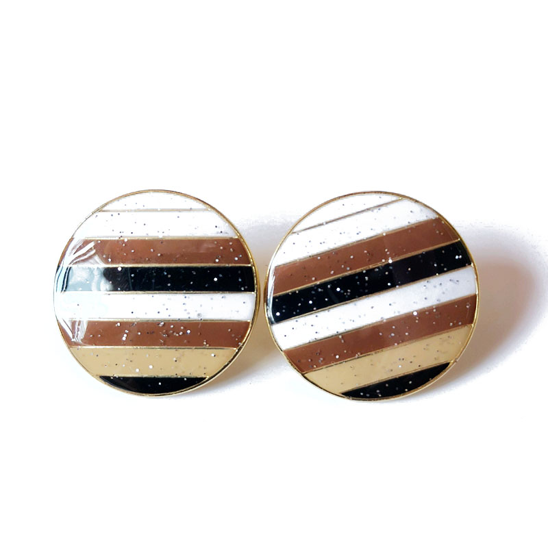 CHOW APINO round colorful enamel strip clip earrings for women mother day/birthday gift