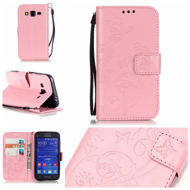 Leather Phone Case for Samsung Galaxy Core Prime G360 G360H