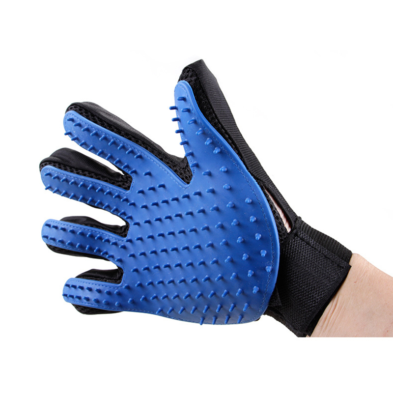 Pet Grooming Glove For Cats Brush Comb Hackle Pet Deshedding Brush Glove For Animal Dog Pet Hair Gloves For Cat Dog Grooming
