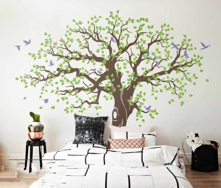 269X233cm Spring Tree Vinyl Wall Sticker Large Tree Wall Stickers Home Decor Wall Decal adesivo de parede arvore mural D984C