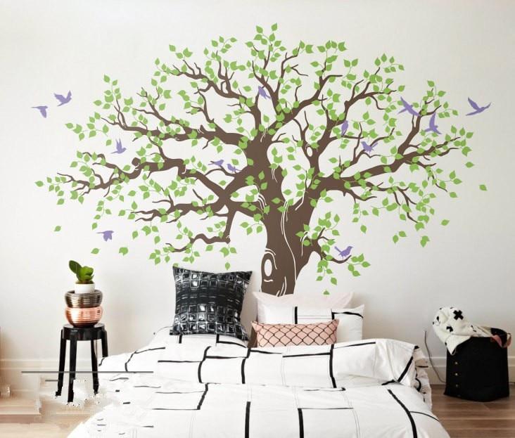 269X233cm árbol de primavera pegatina de pared de vinilo grande árbol pegatinas de pared decoración del hogar Adhesivo de pared adesivo de parede arvore mural D984C
