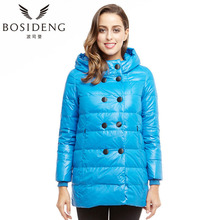 BOSIDENG winter women's clothing down coat down jacket hooded parka double-breasted medium-long outwear high quality B1301212