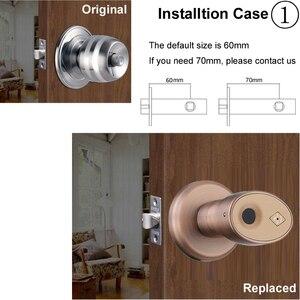 Image 3 - RAYKUBE Knob Electronic Lock Fingerprint Smart Keyless Deadbolt Lock For Home Office Easy Installtion Replaced R S178