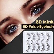2019 New Fashion High Quality 5 Pairs Pretty Long Cross False Eyelashes Makeup Natural Fake Thick Eye Lashes