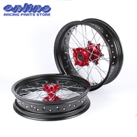 3.5/5.0*17 SUPERMOTO WHEELS hubs RIMS SET FOR HONDA CRF250R 2004 2013 CRF450R 2002 2012 2011 2010 2009 2008 2007 2006 2005