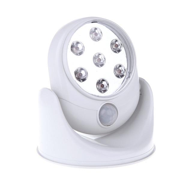6v 7 leds cordless motion activated sensor light lamp 360 degree