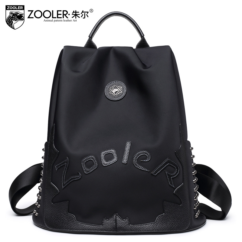 ZOOLER Brand Black Fashion Backpack 2017 Winter Casual Waterproof Back Packs Preppy Style Student School Bag Ladies Backpacks stylish cartoon cat eye shape frame sunglasses for women