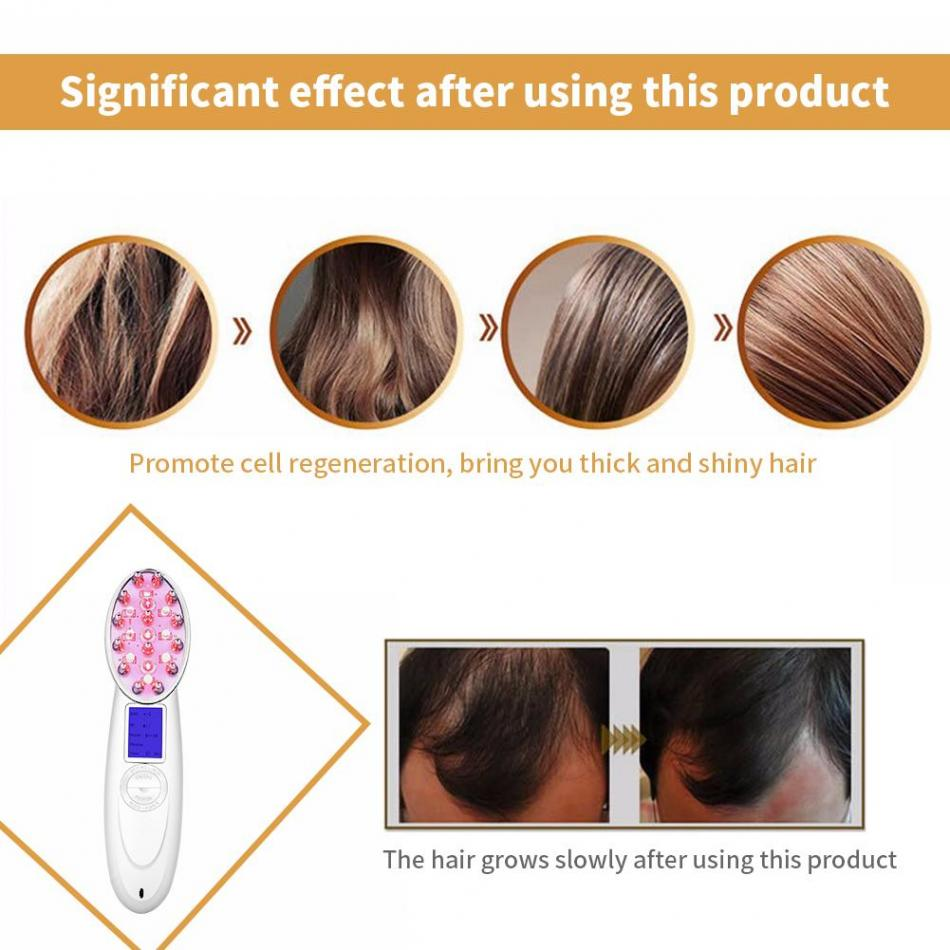 US $36.36 36% OFFLaser Hair Growth Comb Photon Light Therapy Anti Hair  Loss Massager Hair Regrowth Comb Hair Scalp Massage Makeup BrushesMassage