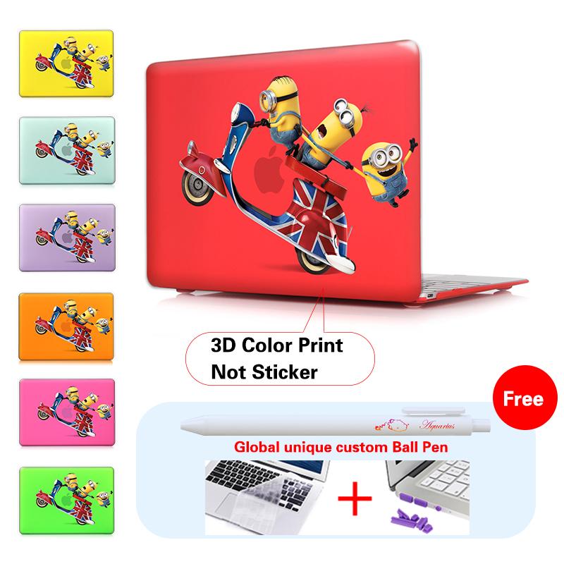 Funny Minions 3d Film Air 116 133 Print Hard Crystal Shell Cover Cases For Macbook Laptop Apple Mac Book Pro Retina 13 15 12 In Bags From