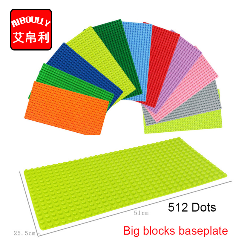 1pcs/lot big Particles Building Blocks Base Plate 51*25.5cm Baseplate 100% Compatible Duploe Kids diy Bricks Baseplate Toys free shipping plate 4x6 diy enlighten block bricks compatible with assembles particles