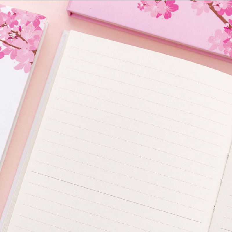 Japanese Dream Beautiful Cherry Blossom Notebook Pink Girl Heart Pocket Notepad Small Fresh Student Diary Book in Notebooks from Office School Supplies