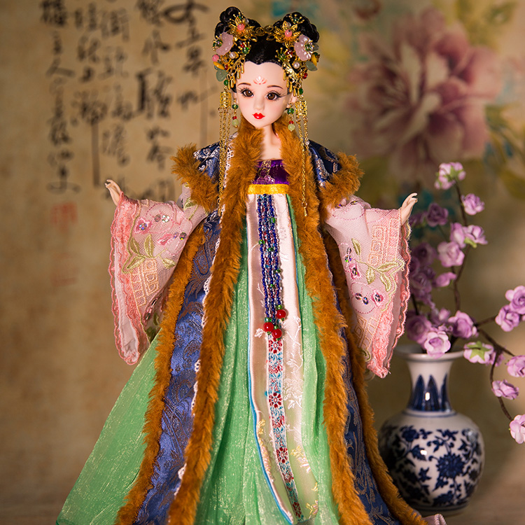 35cm Original Chinese Dolls Jinyang Princess Collectible Girl Dolls Toys 12 Joints Moveable With Super White Skin Body Gifts 35cm collectible chinese dolls ancient costume summer girl dolls with 12 joints movable vintage season series bjd doll toys gift