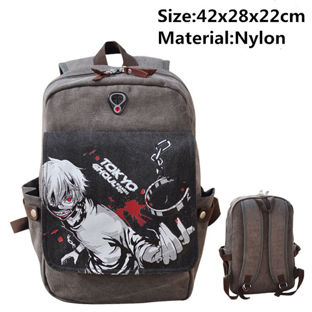 Tokyo Ghoul Ken Kaneki Canvas Backpack Shoulder Bag
