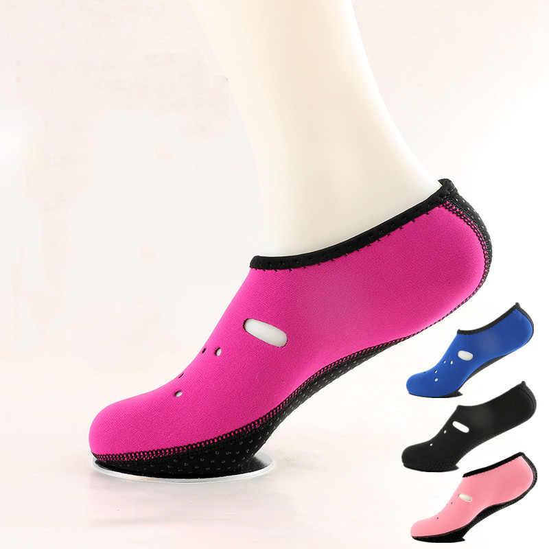 WANAYOU su sporları Anti-Skid dalış çorapları çizilmeye dayanıklı korumalı yüzme botları nefes çabuk kuruyan yumuşak plaj ayakkabısı