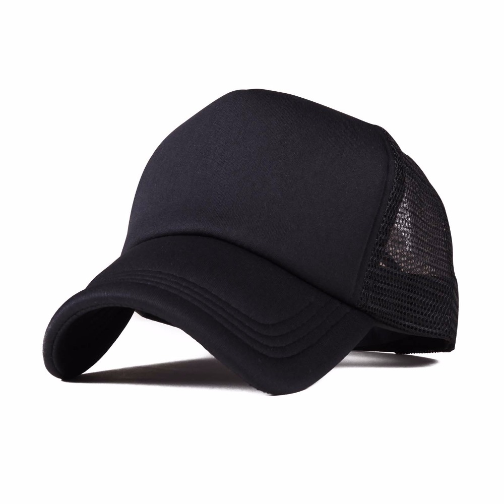 2016 Rushed Hot Sale Freeshipping Adjustable Adult Solid Hats for Unisex Classic Trucker Baseball Golf Mesh Cap Hat -all Color basic adjustable baseball cap pigment dye hats monogram hat blank unisex adult clothing