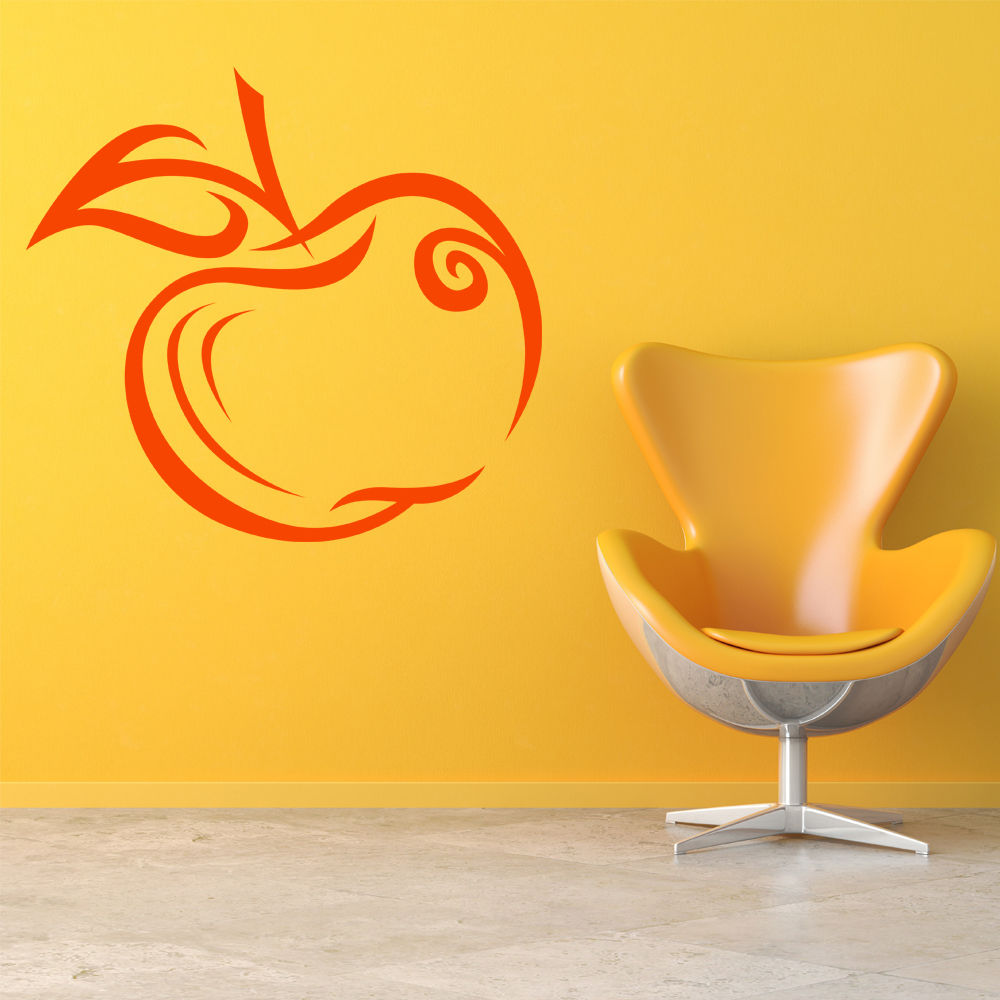 Apple Fruit Wall Sticker Food And Drink Wall Decal Kitchen Cafe Home ...
