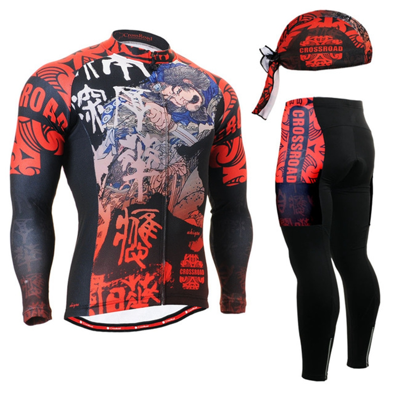 Life on Track Mens Good Quality Cycling Jersey Set Cool Bicycle Long Sleeve Jersey + Pants sets brands riding wear