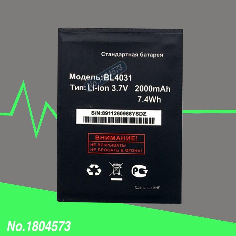 100% Neuf de Haute Qualité Pour Fly IQ4403 Energie 3 BL4031 Batterie 2000 mAh Avec Numéro de Piste 1 PC/Lot