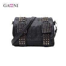 Garni 2017 Luxury Handbags Women Bags Designer Women's Bag Rivet Chain Messenger Shoulder Bags Female Skull Clutch Famous Brand