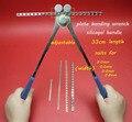 Ortopedia instrumento médico de acero inoxidable placa de flexión de la llave de gel de sílice/mango de acero ajustable universal de flexión alicates