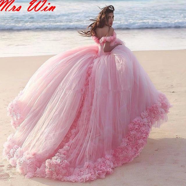 Atractivo de la playa del hombro rosa vestidos de quinceañera 2017 ...