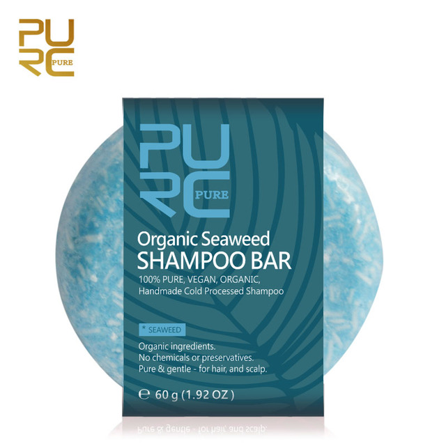 PURC Nova chegada Bar 100% PURO e Algas Algas Shampoo artesanal shampoo cabelo processado a frio sem produtos químicos ou conservantes
