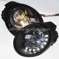 For VW Beetle led headlight led headlamp 1998 2005 SN Black Housing