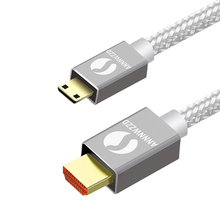 Mini HDMI Cable Mini HDMI to HDMI Cable High Speed Adapter 1080p 3D with Gold Plated Male for HDTV LCD TV Digital Camera Flat 2m стоимость