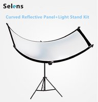 U typed Light Reflector/Diffuser Set with Tripod Eyelighter for Photography Video Studio Shot(Silver/ Gold/White/black)