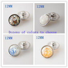 12mm small snaps Single molding beads metal for 12mm beads jewelry fit small snap jewelry KB3190-CA(China)