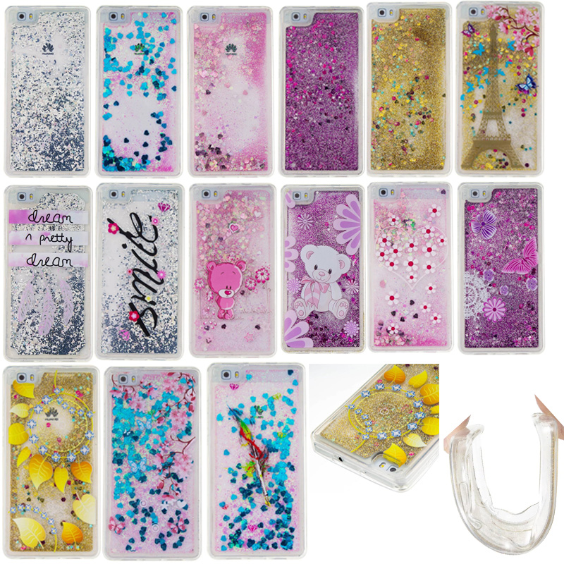 new arrival 5405f 2ae5e US $3.96 |Sparkle Quicksand For LG Stylus 2 stylo 2 LS775 Glitter Flowing  Liquid Pattern Case For Huawei P8 lite/P9 lite Soft TPU Cases on ...