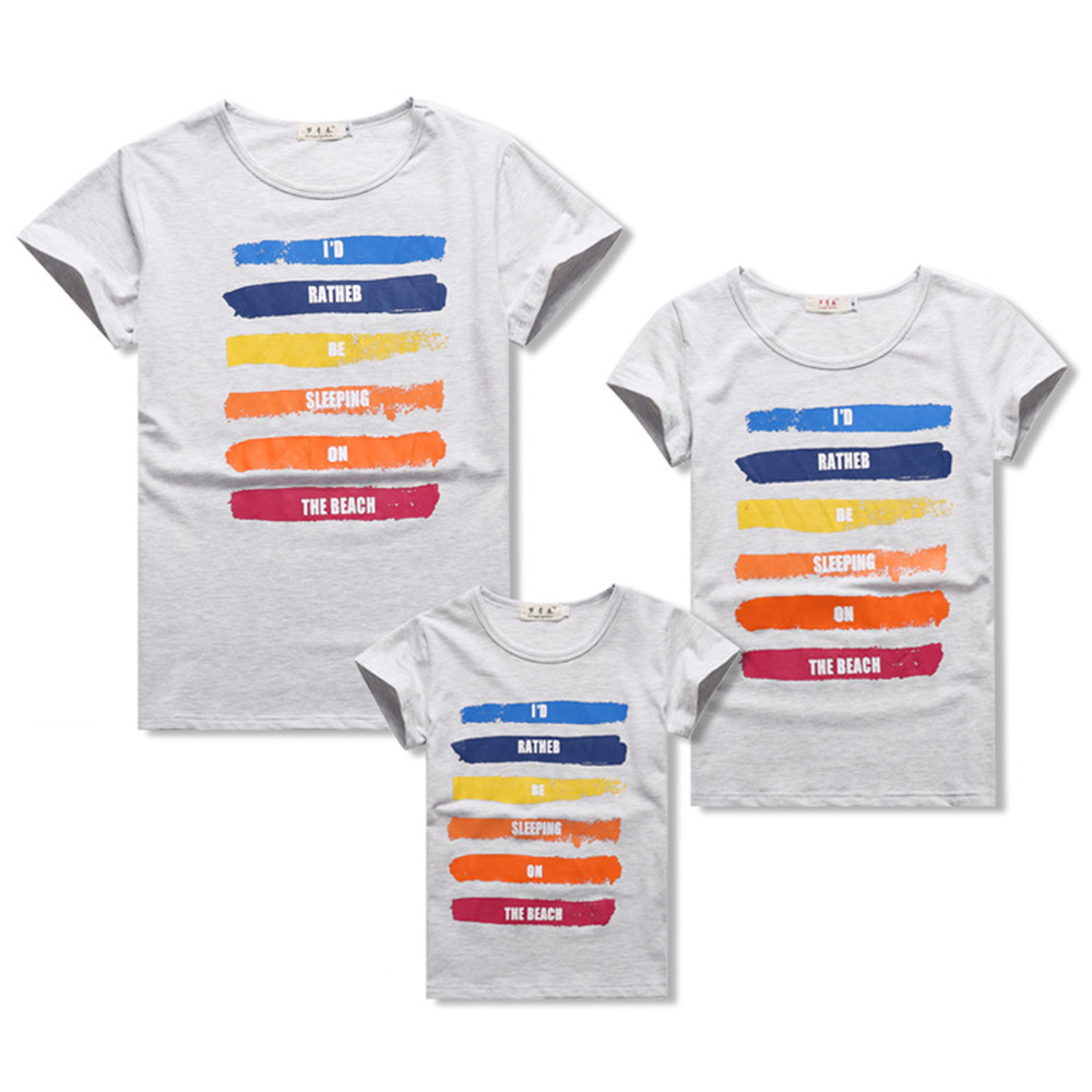 Matching family look clothing outfits fashion printed for Matching denim shirt and jeans