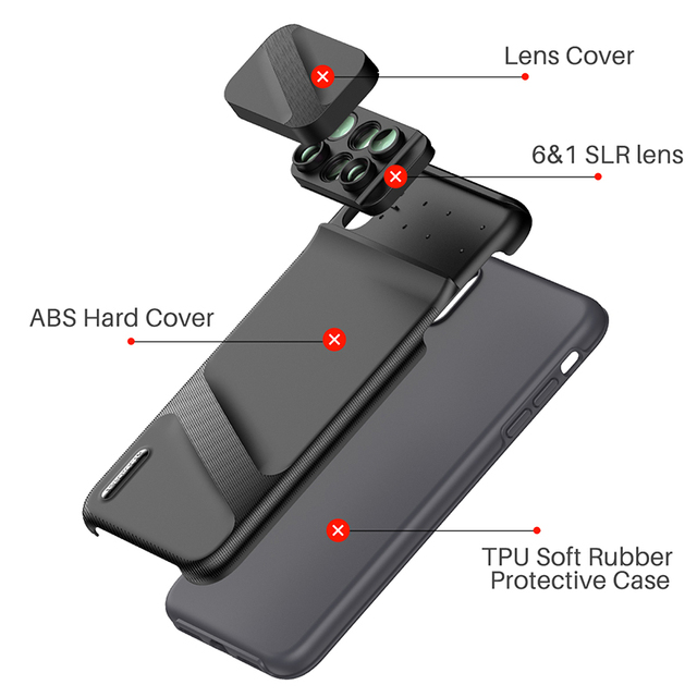 6 in 1 Phone Lens with Case Cover