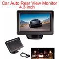 Автомобильный монитор заднего вида  12 В  4 3 дюйма  TFT  LCD  с водонепроницаемой камерой ночного видения  480X272  420 ТВ-линий  NTSC/PAL  для автомобиля