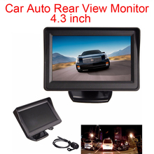 New Arrival 4.3Inch TFT LCD Screen Car Auto Rear View Monitor + Waterproof Night Vision Reverse Camera w180 w190 camera lcd shows screen new