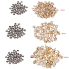 100PCS Imitation Pearls With Rivets Studs Leather Bag Shoes Clothes Crafts Decor Garment Rivets Arts Crafts Sewing Rivets