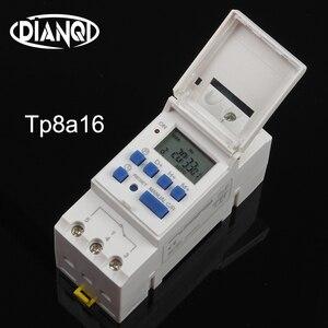 Переключатель таймера din-рейка цифровой TP8A16 еженедельное программируемое электронное реле времени с микрокомпьютером 220 в 230 В 6A-30A колоколь...