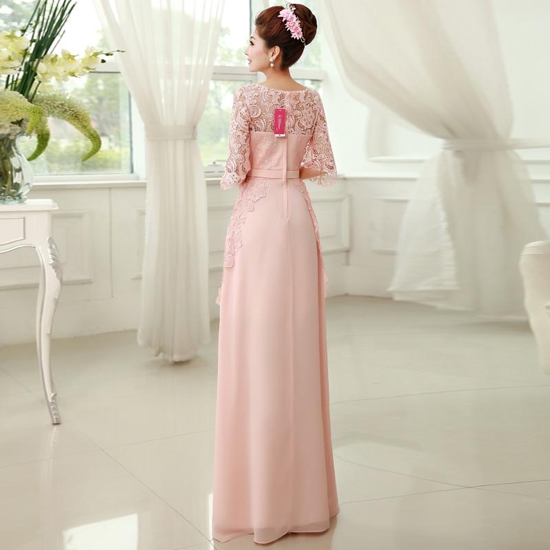 Rosa Brautjungfer Kleid der Halben Hülse Spitze Elegante ...